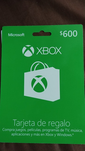 tarjeta xbox 600 pesos