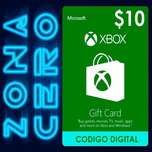 tarjeta xbox gift card $10
