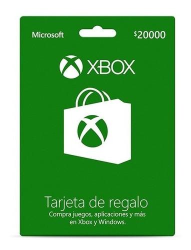 tarjeta xbox live 20000 chile [ código digital ]