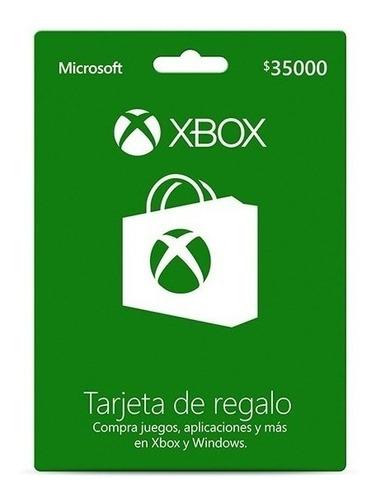 tarjeta xbox live 35000 chile [ código digital ]