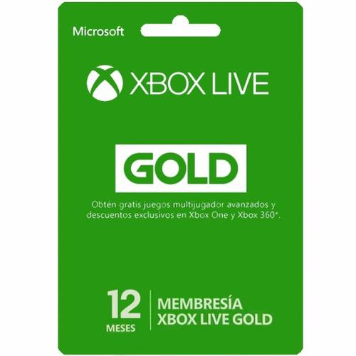 tarjeta xbox live gift card suscripcion 1 año