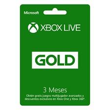 tarjeta xbox live gold 3 meses - se envía x email