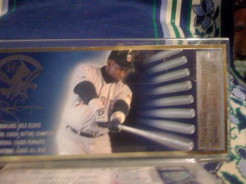 tarjeta y boleto juego baseball san diego 2001