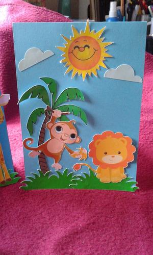 tarjetas  animales de la selva