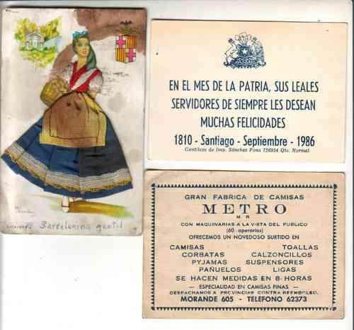 tarjetas antiguas - tarjetones - lote de 7 antiguas tarjetas