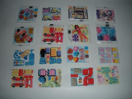 tarjetas armables barbie frito lay sin destapar y destapadas