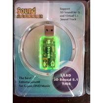 Tarjeta De Sonido Audio 5.1 3d Usb Tipo Pendrive