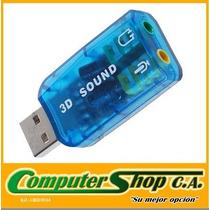 Adaptador De Sonido 5.1 Usb / 3d / Plug And Play / Microfono