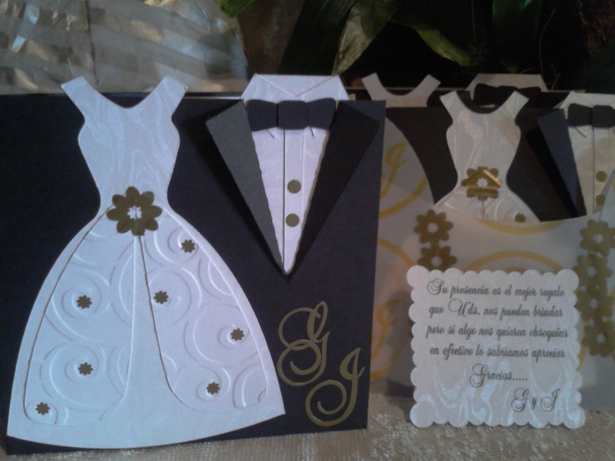 Tarjetas bodas personalizadas dise os unicos baules y - Disenos tarjetas de boda ...