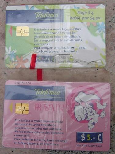 tarjetas colección telefónica