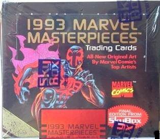 tarjetas comerciales,1993 marvel trading obras maestras ..