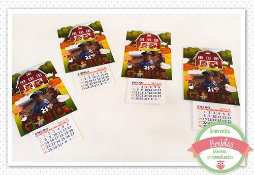 tarjetas con iman + almanaque/calendario personalizado x30u