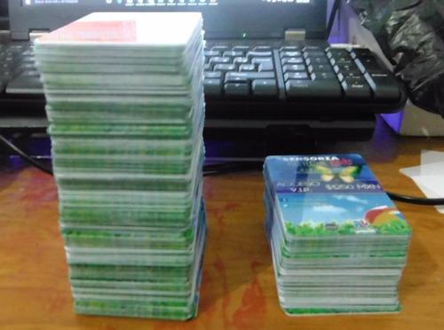 tarjetas, credenciales en pvc directo con laminacion