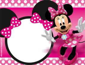 Tarjetas Cumpleaños Minnie Mouse O Minnie Bebé