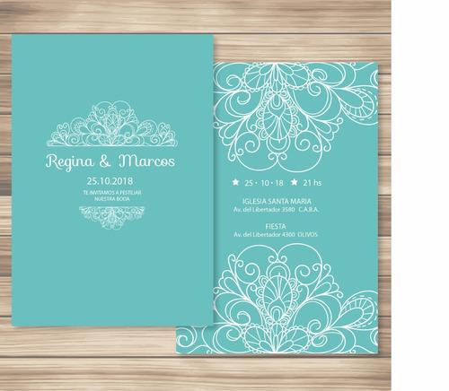 tarjetas de 15 invitaciones bodas casamiento +sobre