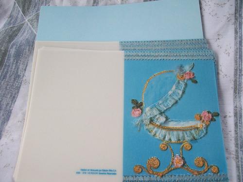 tarjetas de bautizo para niñas, impresión en tipografia.