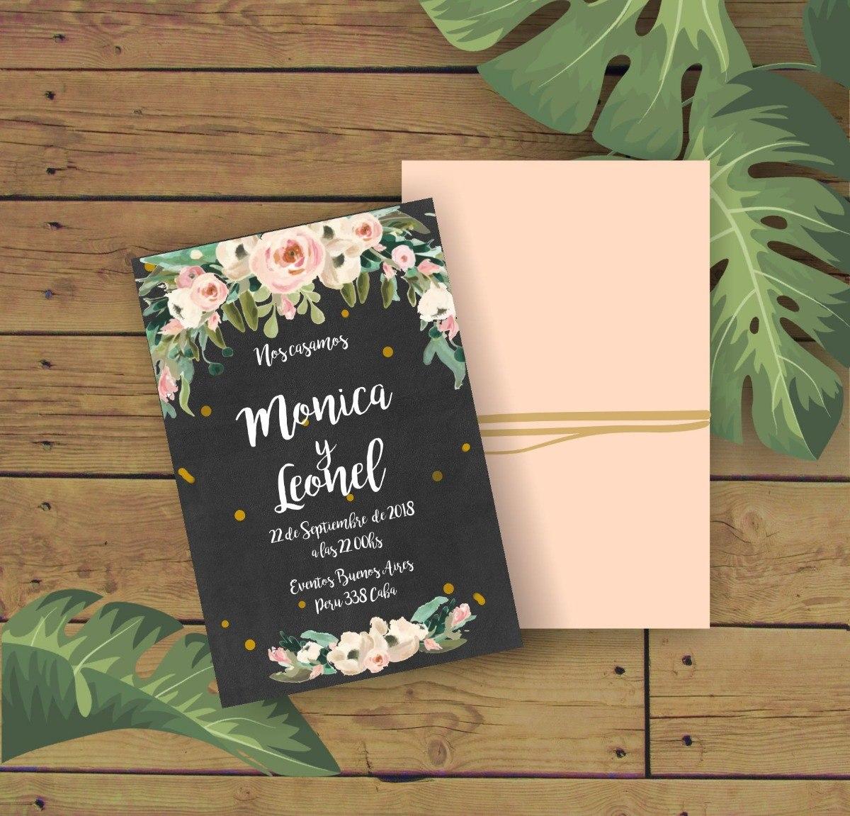 Tarjetas De Casamiento V 4 Invitaciones Virtuales Whats App