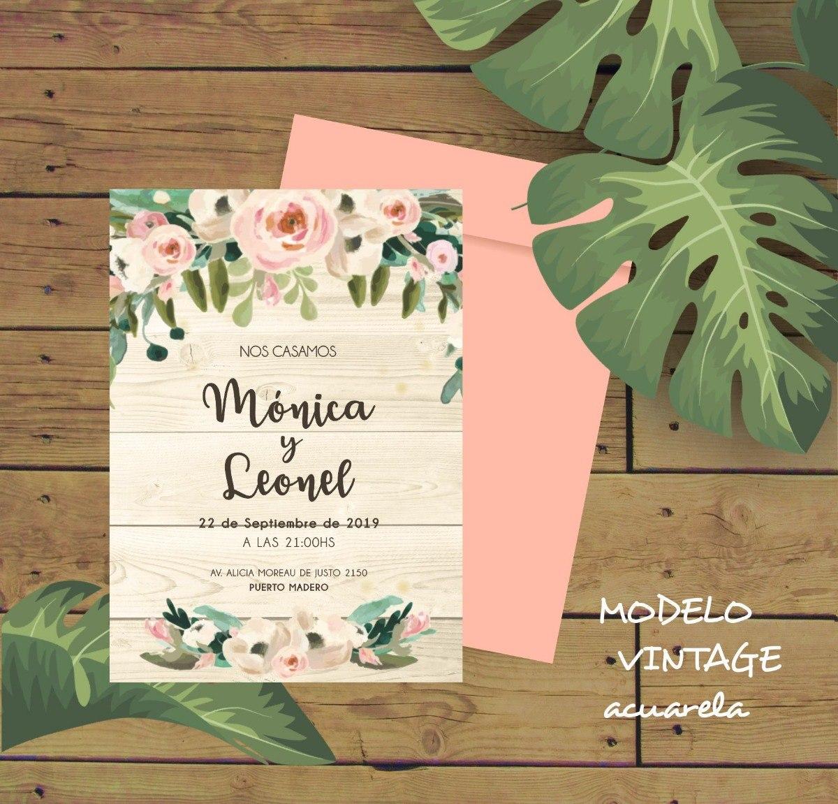 Tarjetas De Casamiento V2 Invitaciones Virtuales Whats App