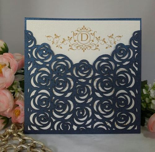 tarjetas de casamiento y 15 años caladas en color negro