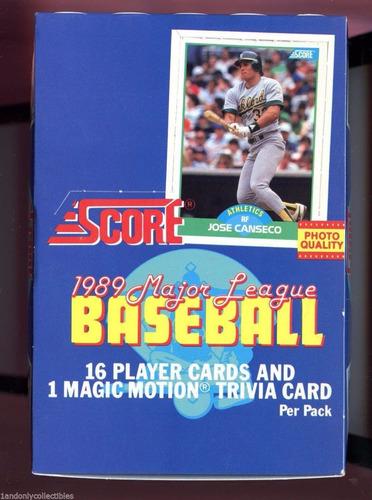 tarjetas de coleccion de base ball score 1989