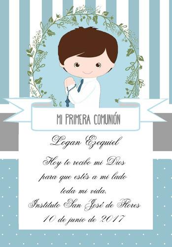 tarjetas de comunion - estampitas-varon-niña
