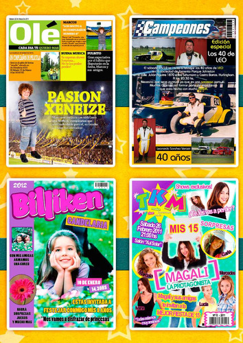 tarjetas de cumpleaños tipo revista 15 años 10x14cm x20u
