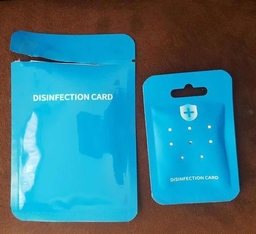 tarjetas de desinfección, 60 días, bacteriostatica