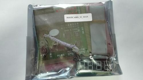 tarjetas de diagnóstico post full kit: laptop, pc y server