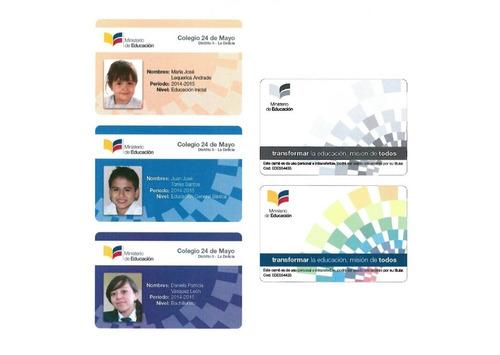 tarjetas de identificación, carnets , credenciales de pvc