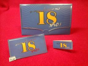 Tarjetas De Invitacion 18 Años Color Azul Y Amarillo X10