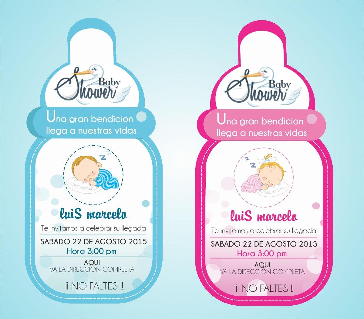 Tarjetas De Invitación Baby Shower, Bautizo Y Comunion.