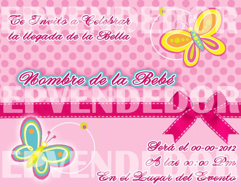 Tarjetas De Invitacion Baby Shower Niña Epvendedor
