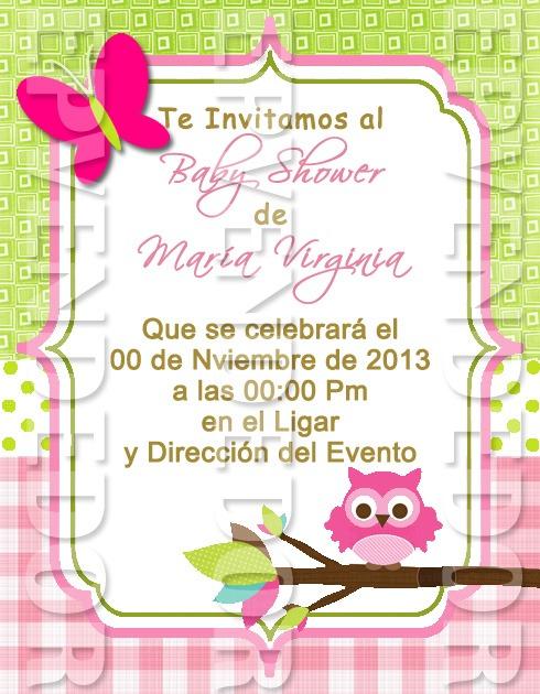 Tarjetas De Invitacion Baby Shower Niña Epvendedor Bs 50000