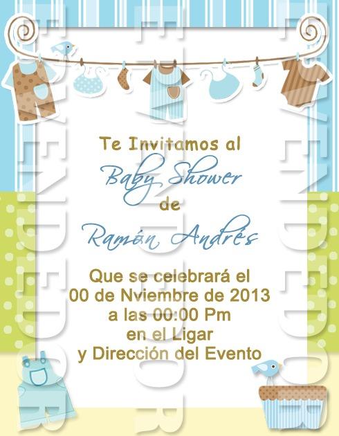 Tarjetas De Invitacion Baby Shower Niño Epvendedor
