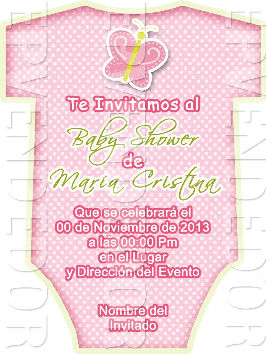 72359fa1b168f tarjetas de invitacion baby shower tipo ropa de bebe - epv. Cargando zoom.