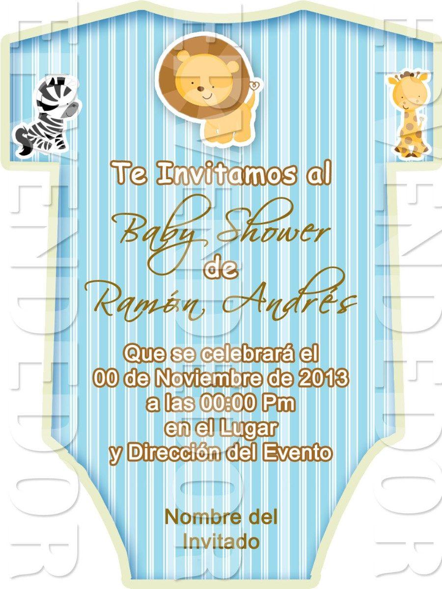 Tarjetas De Invitacion Baby Shower Tipo Ropa De Bebe Epv