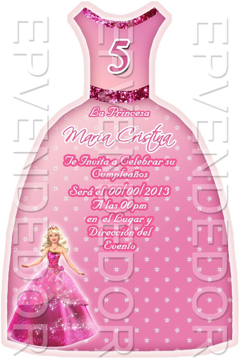 Tarjetas De Invitacion Barbie Princesa Epvendedor