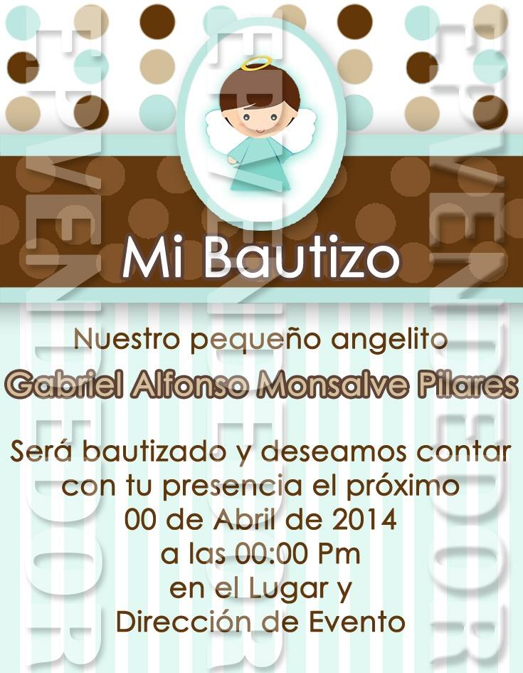 Tarjetas De Invitacion Bautizo Invitaciones Epv