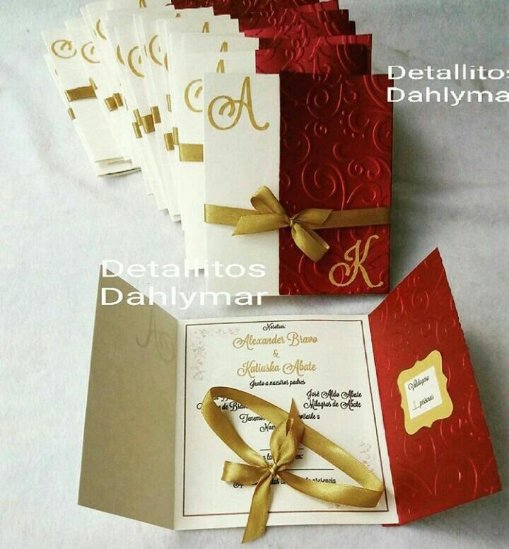 Tarjetas De Invitacion De Matrimonio