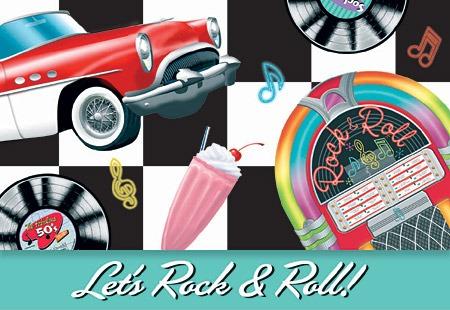Tarjetas De Invitación Cumpleaños Rock And Roll