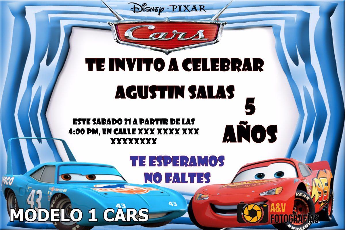 Modelos De Tarjetas De Invitación De Cumpleaños De Cars Imagui