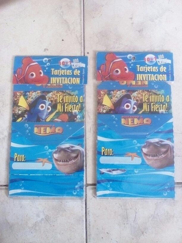 Tarjetas De Invitacion De Nemo
