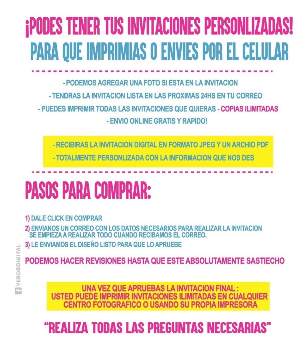 Tarjetas De Invitacion Digital Ariel La Sirenita