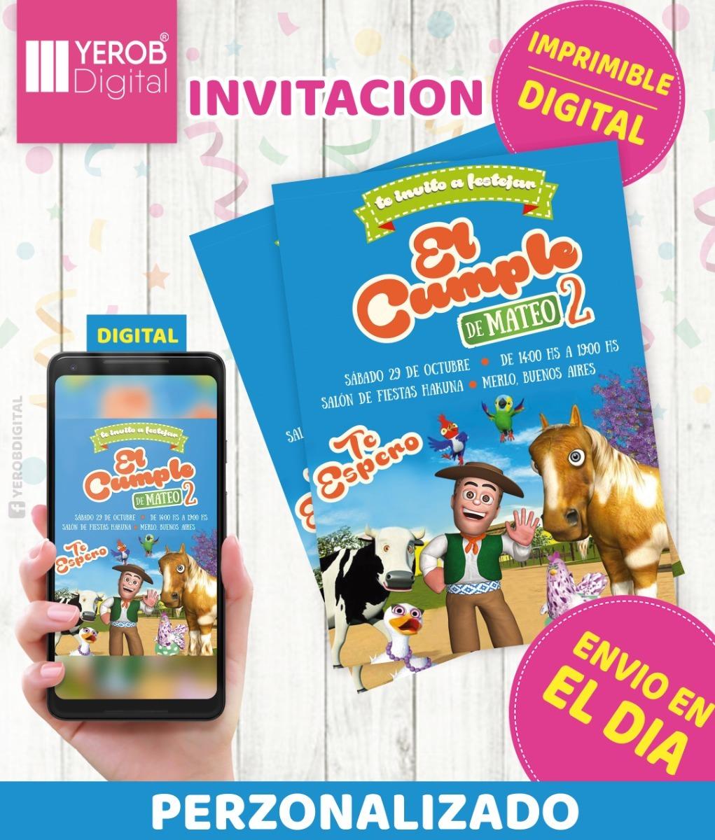 Tarjetas De Invitacion Digital La Granja De Zenon Imprimi