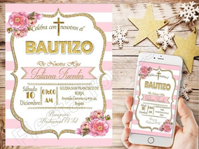 Tarjetas De Invitación Digitales Bautizo Baby Shower