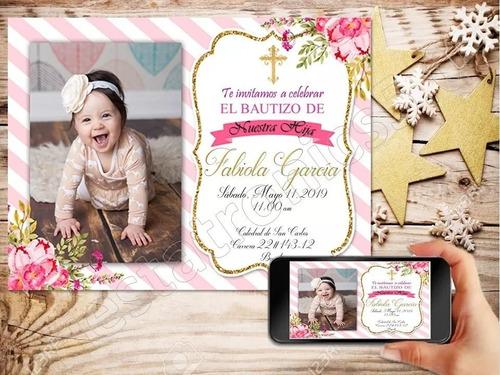 tarjetas de invitación digitales bautizo baby shower