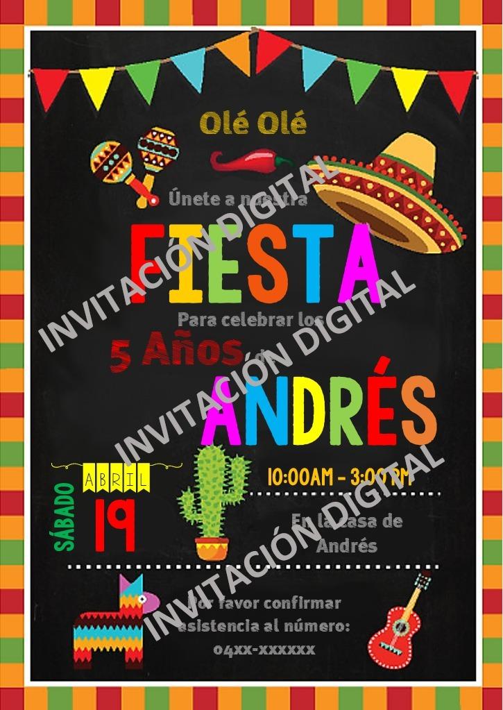 Tarjetas De Invitación Digitales Fiesta Mexicana