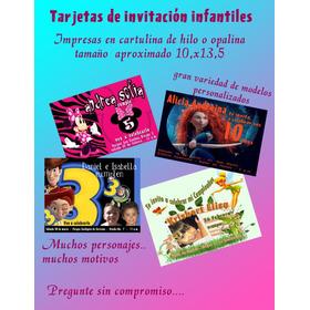 Tarjetas De Invitación Infantiles Digitales O Impresas