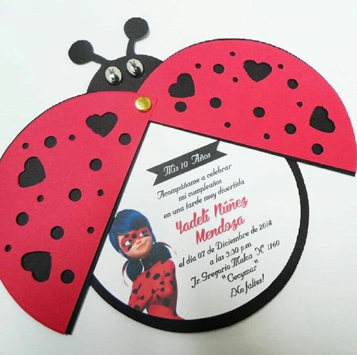 Tarjetas De Invitacion Para Cumpleaños De Ladybug Ideas