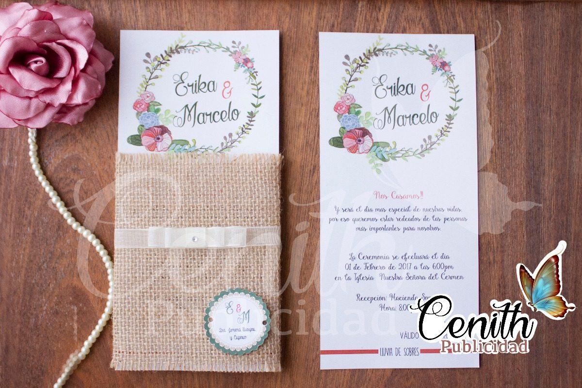Tarjetas De Invitación Matrimonio 15 Años Bautizo Etc